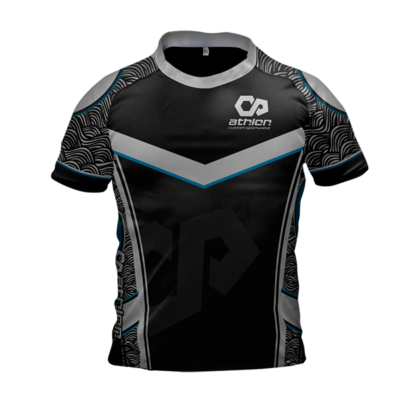 Athlon Custom Rugby Jersey Black