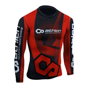 Athlon IBJJF Ranked Rashguard Longsleeve Red