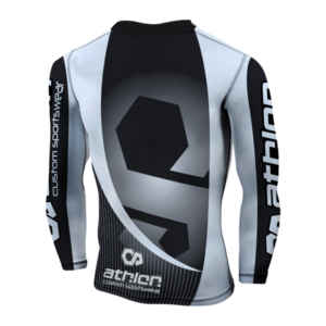 Athlon IBJJF Ranked Rashguard Longsleeve White Back