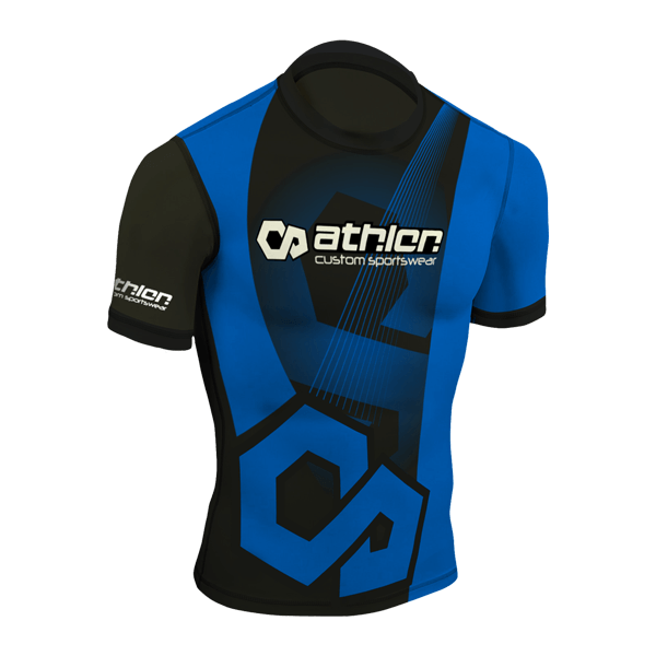 Athlon IBJJF Ranked Rashguard Shortsleeve Blue