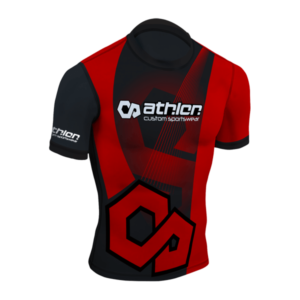 Athlon IBJJF Ranked Rashguard Shortsleeve Red