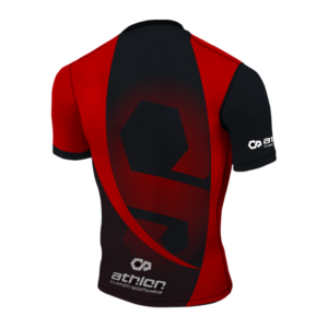 Athlon IBJJF Ranked Rashguard Shortsleeve Red Back