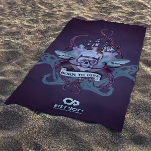 Beach Towel Born to dive
