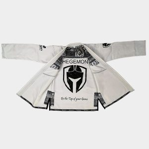 Greek Meander White BJJ Man's Gi