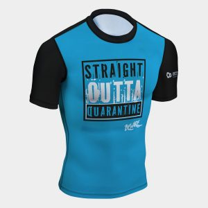 rash guard funny straight out of quarantine