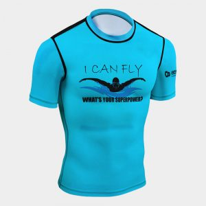 rash guard swimming entusiast