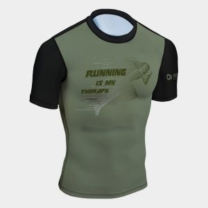 runing is my therapy rash guard