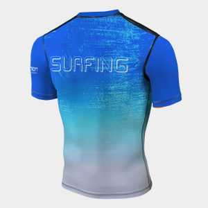 rash guard surfing entusiast