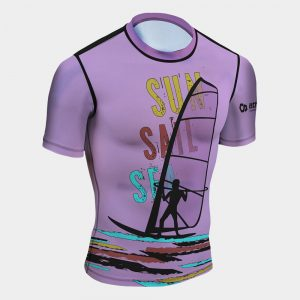 rash guard wind surfing entusiasts