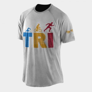 triathlon t shirt white tri