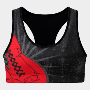 kick box sports bra