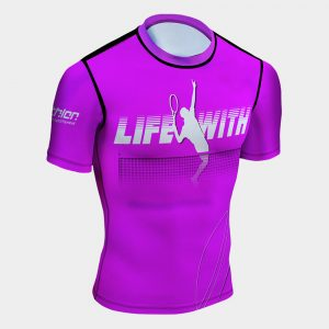 life with tennis rash guard uv protection