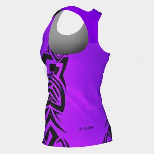 bjj mma tank top woman's purple tribal