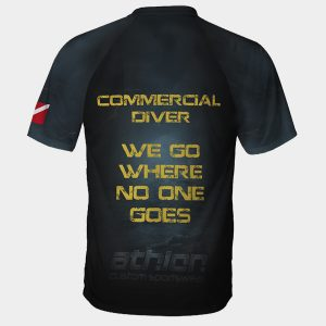 diving t-shirt commercial diver