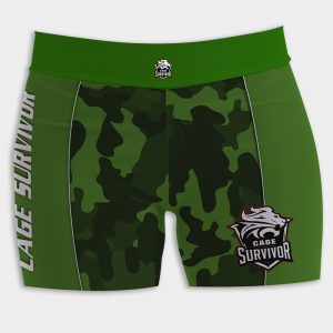 woman's mma shorts cage survivor