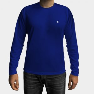 low neck long sleeve techical top